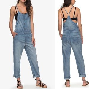 🍁 Roxy Cosy Strappy Denim Jumpsuit